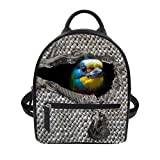 Cheap Bird Ptint Women Small Backpack Purse Casual Daypack Girls Fashion Backpack for Travel Shopping
