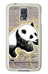Panda 10 White Hard Case Cover Skin For Samsung Galaxy S5 I9600