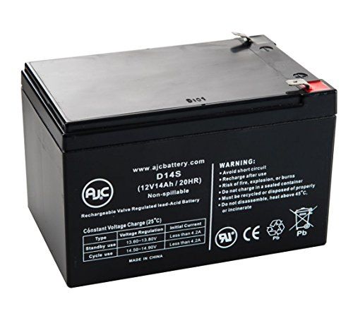 36V 350W 12V 14Ah Scooter Battery - This is an AJC Brand Replacement ()