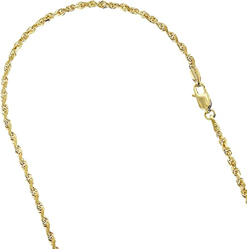 """Anchor Link Women Men 14K Solid Yellow Gold Mariner Necklace Chain 1.5mm 16-24/"""""""