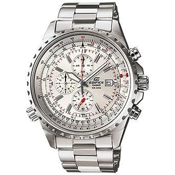 8104ec3217 [カシオ]CASIO 腕時計 EDIFICE エディフィス パイロットクロノグラフ EF-527D-7AV シルバー