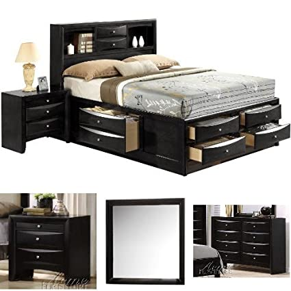 1f7c750008ab Image Unavailable. Image not available for. Color: Acme Furniture Ireland  Eastern King 4-Piece Bedroom Set with Storage ...