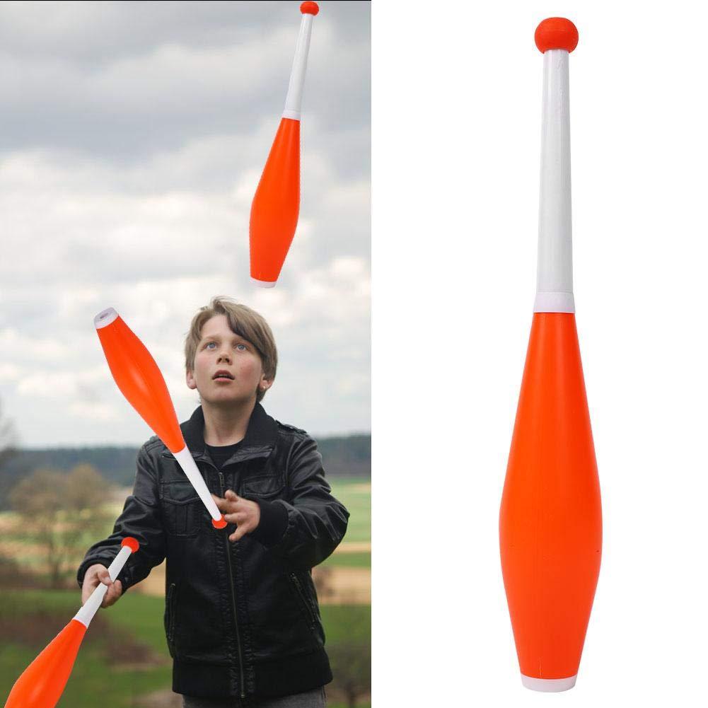 Alomejor Children Juggling Stick Professional Juggling Club Set Kids Outdoor Games Toy Magic Stick Set of 3 (Orange) by Alomejor (Image #3)
