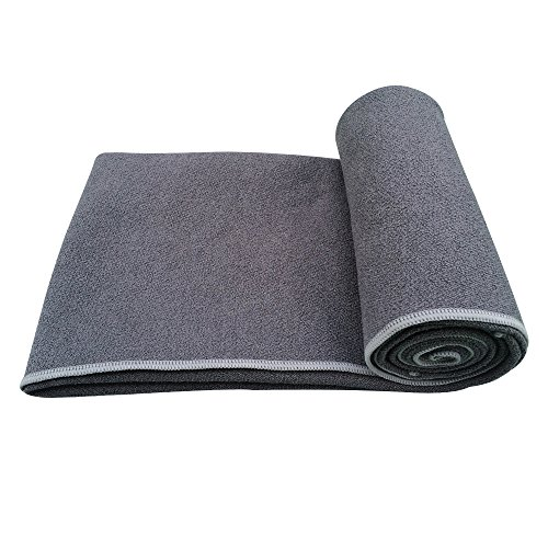 Yoga Jaci Yoga Mat Towel or Hand Towel or Combo Set Non Slip and Skidless Sweat Absorbent Perfect for Bikram, Hot Yoga