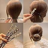 Korean Shell Flower Pearl Hair Bun Maker Simple