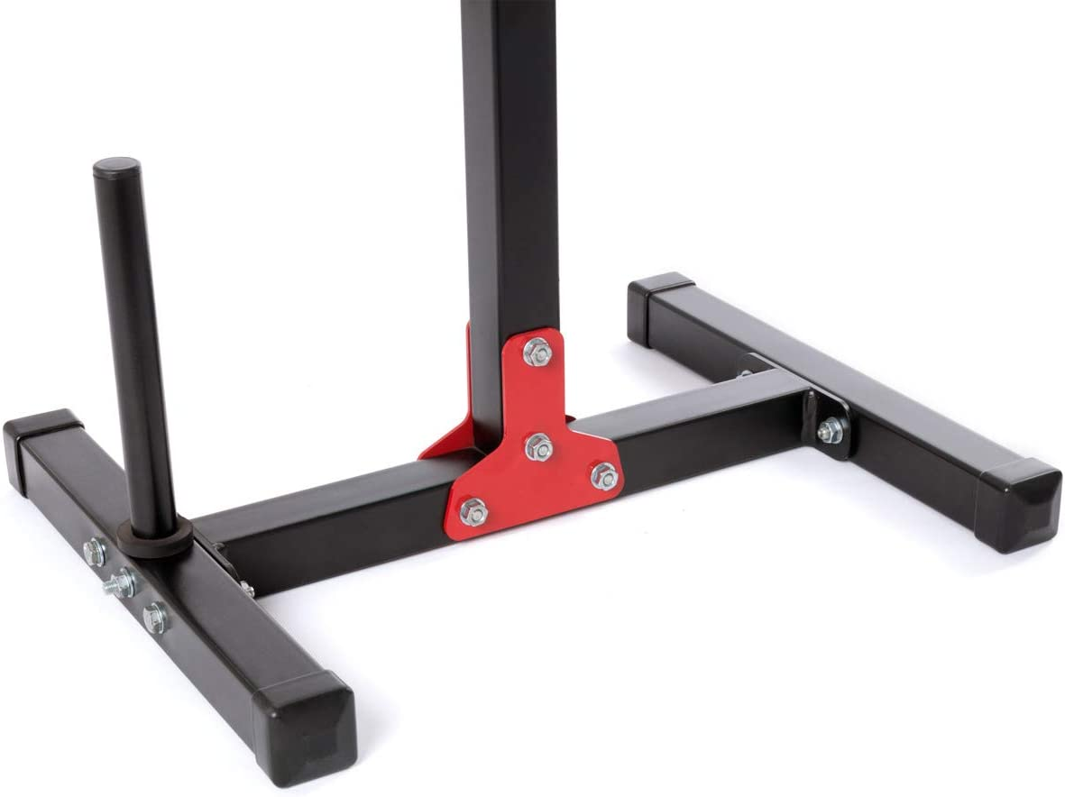 Marbo-Sport MH-S202 Height-Adjustable Dumbbell Stand for Barbell//Weight Plate Pair