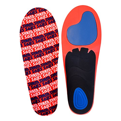 Shred Soles Snowboard Boot Insoles Maximum Performance & Comfort Snowboard Boot Inserts (X-Large M 11.5-13)