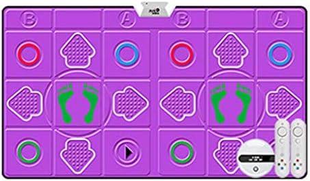 魅力的な泡プレイマット防音ノンスリップダンスマットカーペット、ワイヤレスダブルダンスマット、大人用子供ギフト, Purple