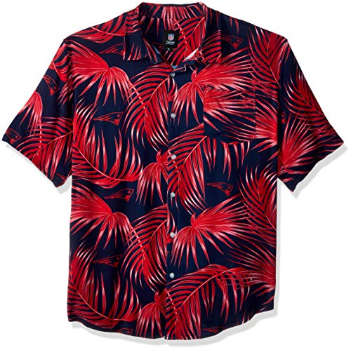 NFL Mens Floral Shirt: New England Patriots, Large