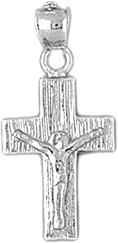 Jewels Obsession Cross Pendant 18 mm 18K White Gold Latin Cross Pendant