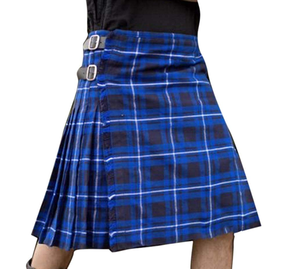 huateng Falda de Fiesta Irregular Escocesa Tradicional Escocesa de ...
