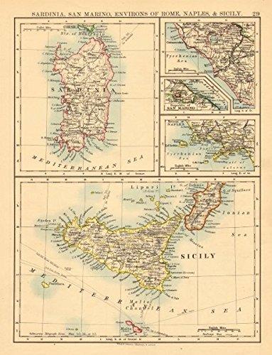 Amazon Com Italian Islands Sardinia Sicily Ischia Capri Malta S