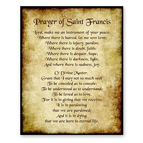St Francis Prayer Inspirational Uplifting Blessing Poetry Home Decor Housewarming Gift Antique Style 8x10 Print