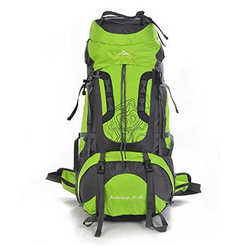 80 L Outdoor Klettern Taschen Männer lässig Schultern Paket Rucksack große Kapazität Pakete SK, grün