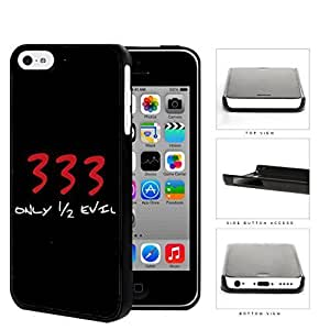 MMZ DIY PHONE CASE333 I'm Only Half Evil Hard Plastic Snap On Cell Phone Case Apple iphone 4/4s