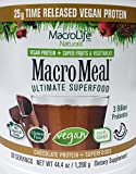 Macro Life Naturals Meal Vegan Chocolate, 2.8 Pound For Sale