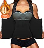 LODAY Womens Shapewear Weight Loss Neoprene Sauna Sweat Waist Trainer Corset Tank Top Vest Sport Workout Slimming Body Shaper (Black(Underwear Vests, XL (US 14-16))