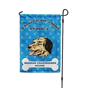 Una casa no casa bosnio coarsehaired Hound Dog Patio Banner bandera de Jardín