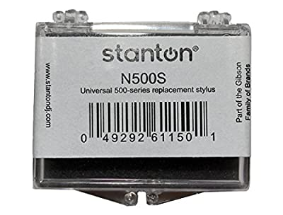 Stanton N500S Universal 500 Series Replacement Spherical Stylus Needle For 500 & 505 Cartridges (single) by Stanton
