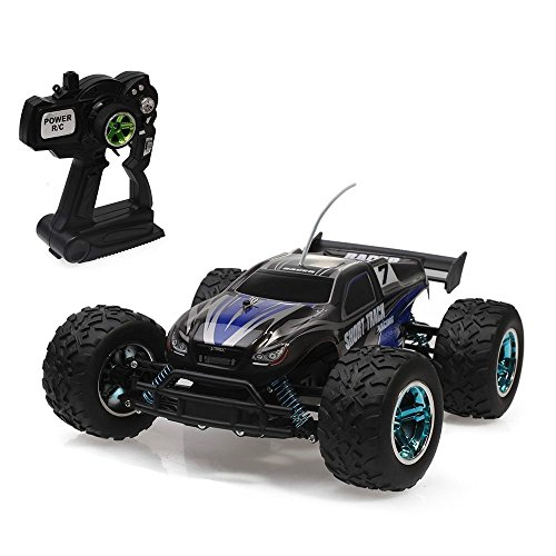 VANGOLD 4WD RC Cars Electric off road 1 12 RTR Electric RC Truck High Speed 25 kph Remote Control Car Truggy Racing Car Monster Truck Buggy Waterproof Shock Resistant (Blue)