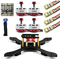QWinout DIY Kit Threel X 3K Removable Frame RS2306 2750KV Brushless Motor 30A ESC with PDB for FPV Racing Drone Quadcopter Multicopter