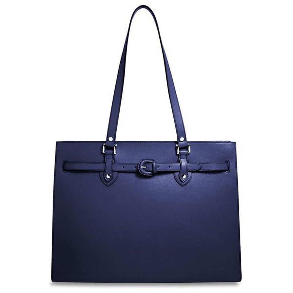 Jack Georges Chelsea Collection Alexis Business Tote in Cobalt by Jack Georges