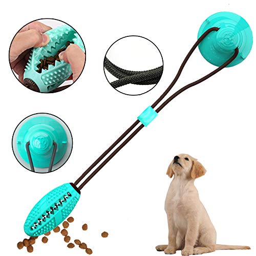 DogieLyn Suction Cup Dog Toy Indestructible Tug of War Toys for Dogs Self Playing IQ Treat Ball Attach To Wall…