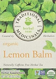 Traditional Medicinals Organic Lemon Balm Herbal Tea - 16 bags per pack - 6 packs