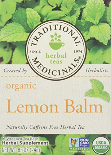 Traditional Medicinals Organic Lemon Balm Herbal Tea - 16 bags per pack -- 6 packs