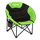 Best Red Folding Chairs - KingCamp Moon Saucer Camping Chair Steel Frame Folding Review