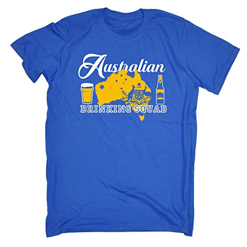 123t Men's Australian Drinking Squad Australia T Shirt Aussie Tee Booze Top Stag Do Club Beer Wine Birthday Gift Christmas Present T-SHIRT
