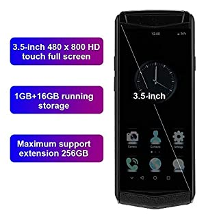 4G/Wifi Cellphone with MTK6737 Processor,Mini Mobile Phone with Face Recognition,Dual Card Dual Standby,Support Multiple Languages,3.5in Screen Mobile Phone 1MB+16MB with Large Capacity Battery(Black)