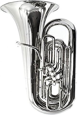 Schiller American Heritage BBb 5-Valve Piston Compensating Tuba - Nickel - Bb Tuba
