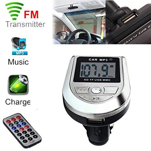 Aurorax Portable FM LCD Car Radio Adapter Audio Bluetooth, Mp3 WPA FLV WAV Car Stereo (Free Sounds Wav)
