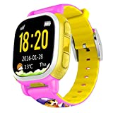 Tencent QQ Watch Kids Smart Watch phone GPS Tracker Wifi Locating GSM Camera Remote Locating Security SOS Alarm Antilost (Pink)