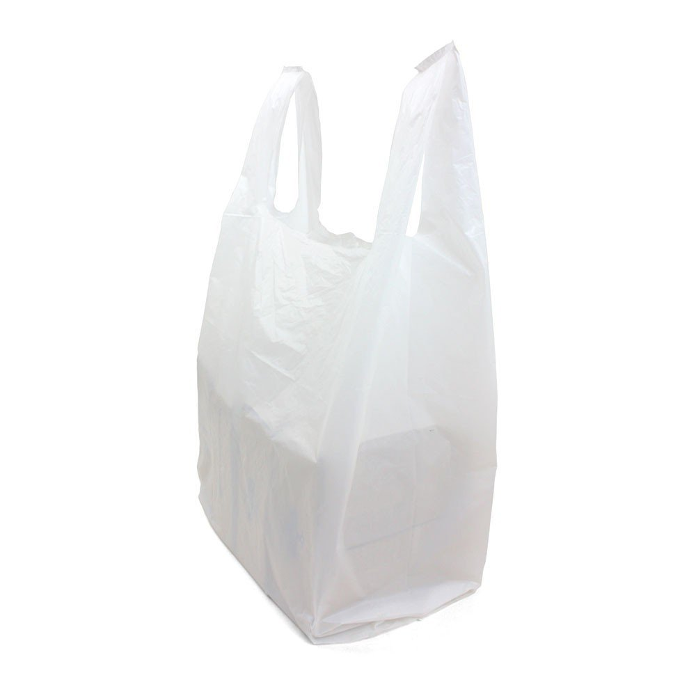 SafePro JSBW, 18x10x32-Inch White Plastic Jambo T-Shirt Shopping Bags, Polyethylene Grocery Bags, 250-Piece Case by Prosafe
