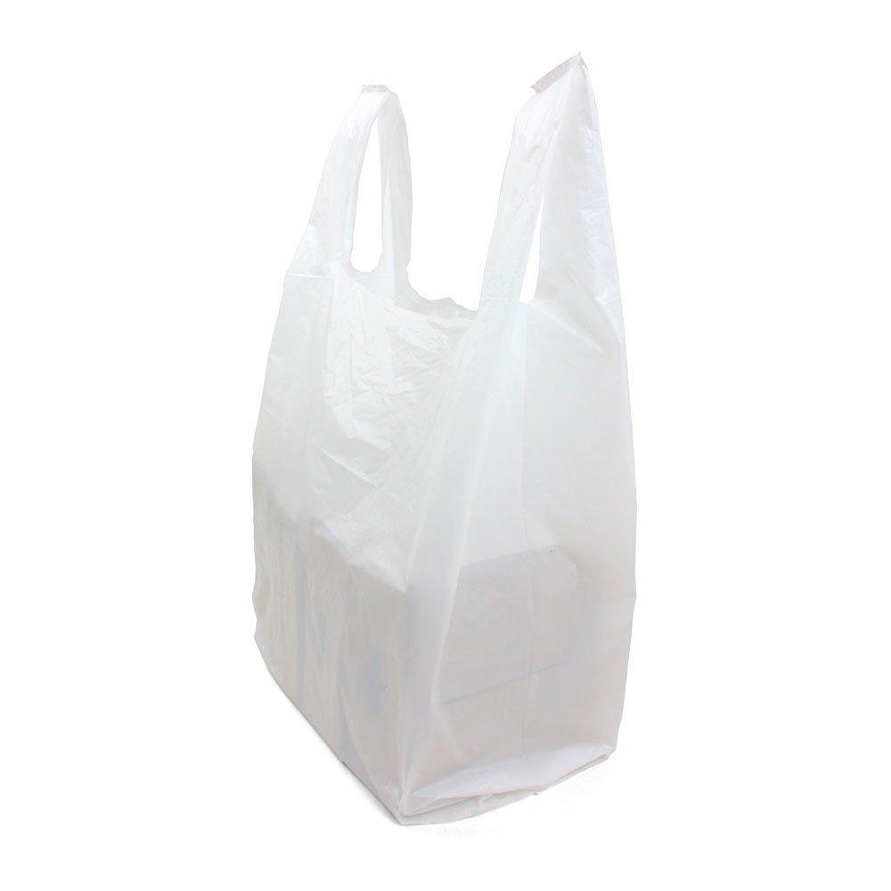 SafePro JSBW, 18x10x32-Inch White Plastic Jambo T-Shirt Shopping Bags, Polyethylene Grocery Bags, 250-Piece Case
