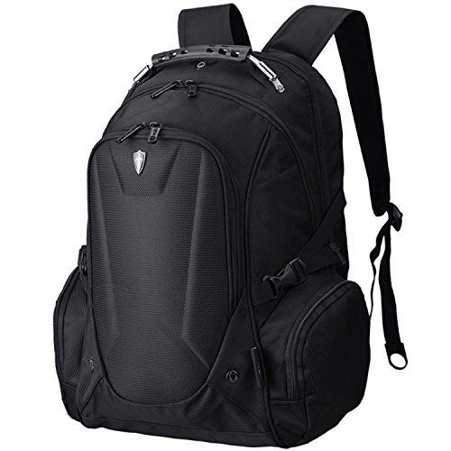 Victoriatourist VE-V6002B Laptop Backpack Notebook Rucksack with Electronics Sleeve for 16 inch Computer and iPad, Black
