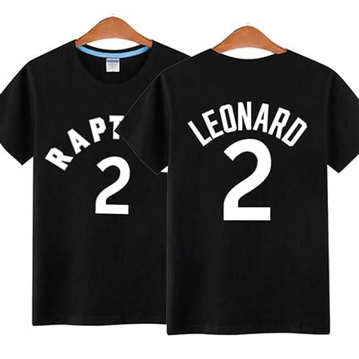 YIFUU Toronto Raptors Leonard 2 Leonard Camiseta De Manga Corta ...