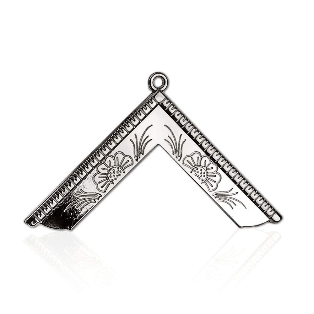 Masonic Officer Collar Jewel Worshipful Master Silver Plated