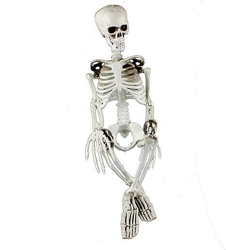 Lilihot Halloween Deko Halloween Party Dekoration Beweglich Voller Grosse Menschlicher Schadel Skelett Anatomisch Dekorationen Gespenst Decoration Karneval Skelett Beige Amazon De Musikinstrumente