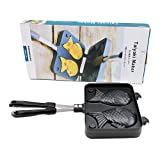 Japanese Taiyaki Fish Shaped Cake Maker Waffle Pan Mold 2 Cast Bakeware Wtih 2 Sided Home DIY Cooking Food Bar Tool gift for Chrismas&new home~ We Pay Your Sales Tax