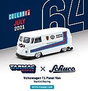 TARMACWORKS × Schuco 1/64 フォルクスワーゲン T1 Panel Van Martini Racing 完成品