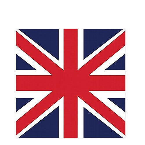 Creative Converting 18 Count Beverage Napkins, Be Royal (British Theme Party Supplies compare prices)
