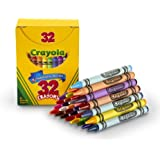 Crayola Crayons Tuck Box, 32 Classic Crayola Colors Bold Bright Colors, Great for Kids Classrooms or Preschools, Non-Toxic Art Tools for Kids 4 & Up - 52-0322