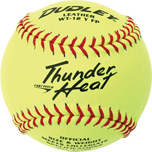 Dudley NCAA Thunder Heat Fast Pitch Leather Soft Ball - Dozen ()