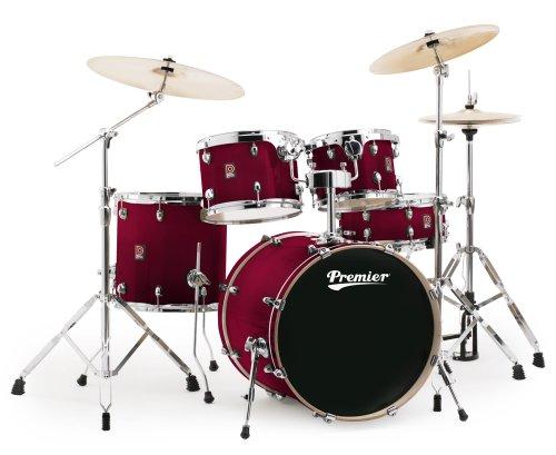 Premier Drums XPK Lacquer Birch Series 6489925TRL 5-Piece Drum Set, Trans Ruby