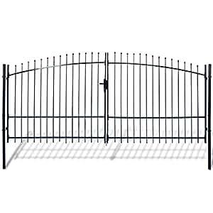 Amazon.com: festnight – jardín valla de para puerta, de ...