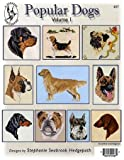 Pegasus Originals Popular Dogs Vol. I Counted Cross Stitch Chart Collection - Popular Dogs Vol. I contains designs for Rottweiler, Pug, Beagle, Red and Black and Tan Dachshund, Bulldog, Golden Retriever and Miniature Schnauzer.