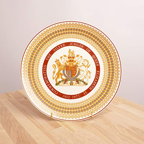 Restored by UKARETRO 1952-1977 Queens Elizabeth's Silver Jubilee Royal Stafford Bone China Made in England || Royal Tuscan Bone China Plate